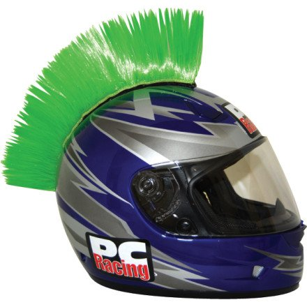 PC Racing Helmet Mohawk (GREEN)