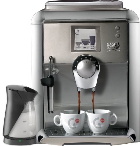 Gaggia Platium Vision 90950 Automatic Espresso Machine with Free Milk Island, Champagne
