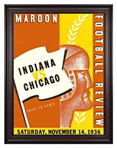 1936 Indiana Hoosiers vs Chicago Maroons 36x48 Framed Canvas Historic Football... by Mounted Memories