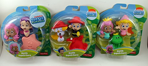 Nickelodeon Bubble Guppies Bath Squirters Set of 9 - Molly, Deema, Frog, Oona, Molly, Star Fish, Gil, Bubble Puppy, Dragon - 1