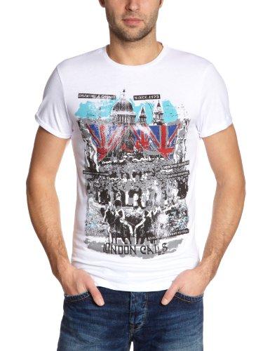 Pepe Jeans London PM501338 - Keaton Printed Men's T-Shirt White X-Large