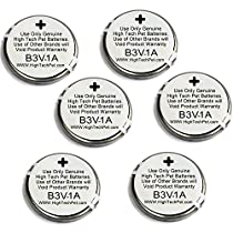 High Tech Pet 6-Pack Electronic Collar Battery for Model MS-4 and MS-5