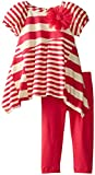 Rare Editions Baby Baby-Girls Infant Pieced Multi Striped Legging Set