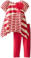 Rare Editions Baby Baby-Girls Infant Pieced Multi Striped