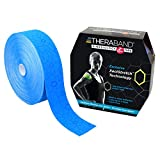 TheraBand Kinesiology Tape, Physio Tape for Pain Relief, Muscle Support, and Injury Recovery, Standard Roll with XactStretch Application Indicators, 2 Inch x 103.3 Foot Bulk Roll, Blue/Blue