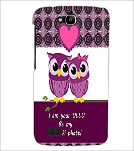 PrintDhaba Loving Owls D-3978 Back Case Cover for HUAWEI HONOR HOLLY (Multi-Coloured)