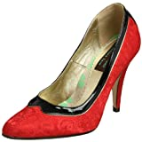 Women's Beyond Skin by Sui Generis Madeline Pump in Red Damask