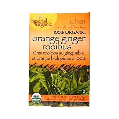 Uncle Lee'S Imperial Organic Orange Ginger Rooibus Chai Tea - 18 Tea Bags