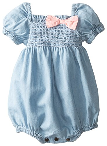 Pumpkin Patch Baby-Girls Newborn Baby Shortie All In One,Chambray,0-3 Months