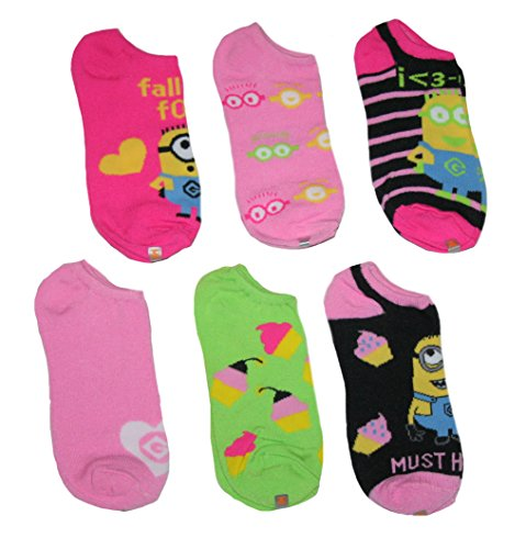 Despicable Me Minion Big Girls' Socks - 6 pk.