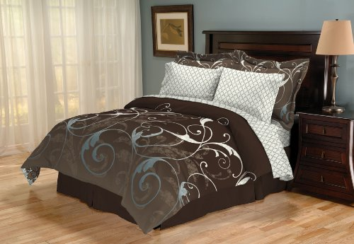 Lovely Sanders Home Collection Marley Reversible Piece Queen Bed in a Bag Bedding Set