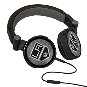 NHL Los Angeles Kings Washed Logo Headphones by Pangea Brands