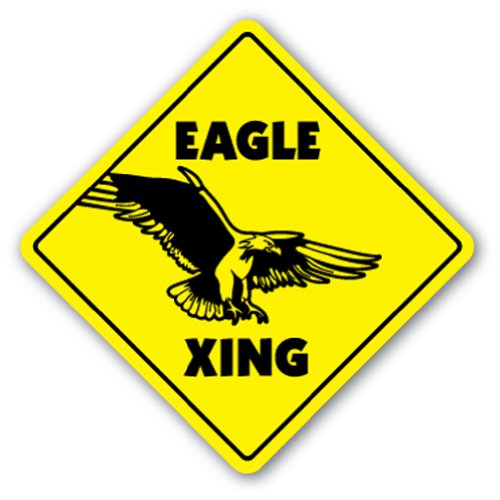 Eagle Crossing Sign New Xing Bird Bald American Gift