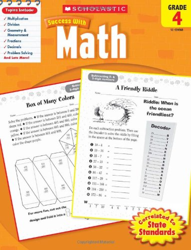 Image for Scholastic Success with Math, Grade 4 (Scholastic Success with Workbooks: Math)