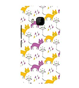 99Sublimation Animated Design Many Cat 3D Hard Polycarbonate Back Case Cover for HTC One M9