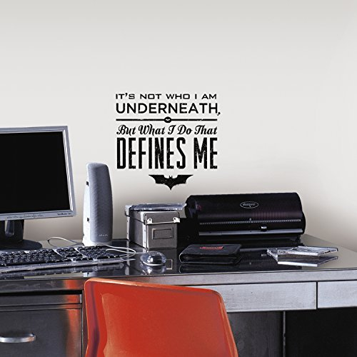 """RoomMates RMK2696TB Batman Quote Peel and Stick Wall Decals, 9"""" x 40"""""""