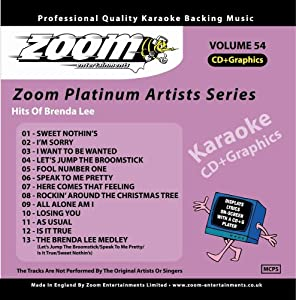 Zoom Karaoke CD+G - Platinum Artists 54: Brenda Lee