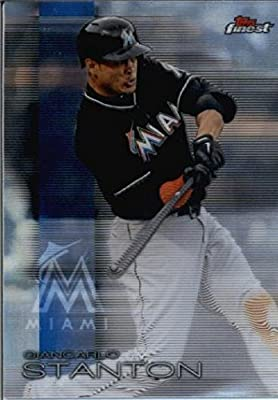 2016 Finest #78 Giancarlo Stanton Miami Marlins Baseball Card