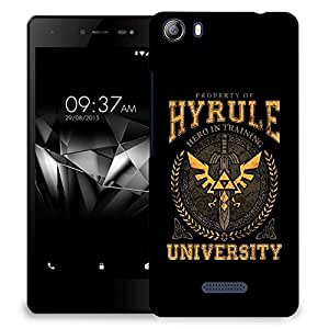 Snoogg Hyrule University Designer Protective Back Case Cover For MICROMAX E481