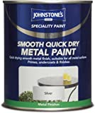 0.75LTR JOHNSTONE'S SMOOTH QUICK DRY METAL PAINT WHITE