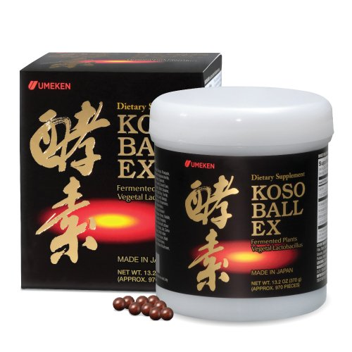 Umeken Koso Ball EX - New Fermented Fruits and Vegetables Extract Containing Enzymes for Energy, Digestion, Immune System. Made in Japan. (Daikon Radish Extract compare prices)