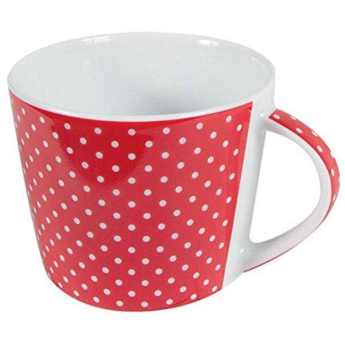 Porzellan Kaffee Tasse Mini Dots Punkte Rot Inhalt 0,2 l Tafelservice Hergestellt in Deutschland, mikrowellensicher, spülmaschinenfest