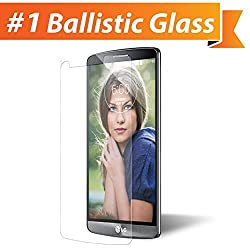 iGotTech LG G3 Glass Screen Protector - Edge to Edge Tempered Glass Tech Shield - Military Grade TruClear Ballistic Glass Maintains 99.9% Clarity & Touchscreen Accuracy in These Cell Phone Screen Protectors