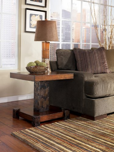 """Cheap MediumBrown Square End Table by """"Famous Brand"""" Furniture (T875-2)"""