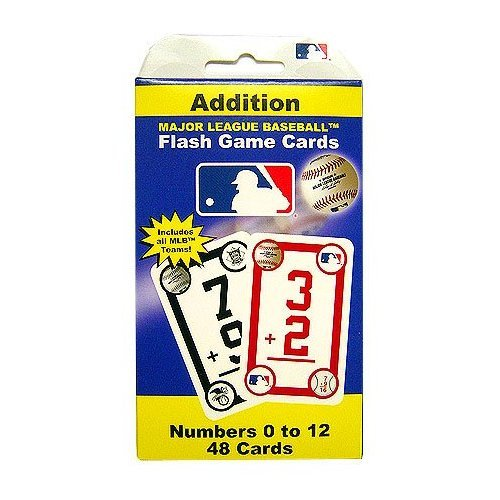 MLB Major League Baseball Addition Flash Cards