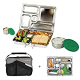 PlanetBox Rover Lunchbox, Black Carry Bag with Sports Balls Magnets