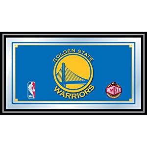NBA Golden State Warriors Logo Framed Mirror by Trademark Global