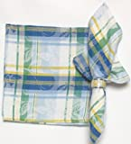 Durable Hand Woven Jacquard 100% Cotton White and Blue Fruit Napkins 22x22 Inches Set of 12