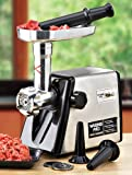 Waring Pro MG100 Remanufactured 150-Watt Meat Grinder, Brushed Stainless Steel
