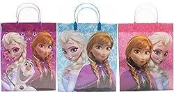 Disney Frozen Party Favor Goodie Big Gift Bags (3 Bags)