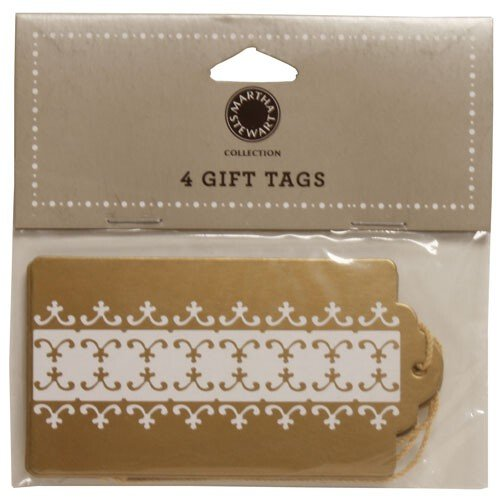 Jam Paper® - Martha Stewart Gift Tag Collection - Gold Gift Tags With String - 4 Tags Per Bag front-326807