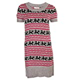 Miso Fair Isle Knit Dress - Grey - Womens from sexylingeriesale.co.uk