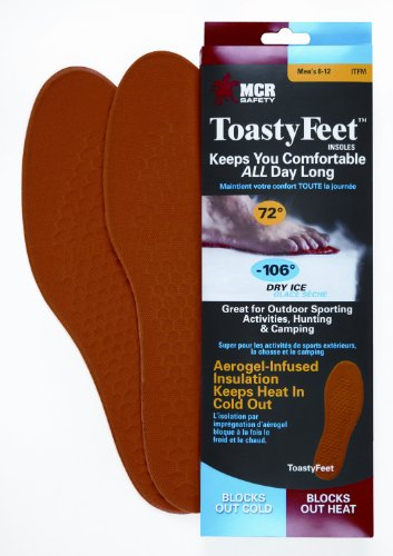Safety Works Ctfm Toasty Feet Mens Shoe Insoles