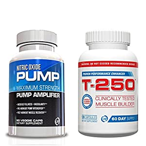 Muscle Building Supplements-Nitric Oxide and T-250 Kit