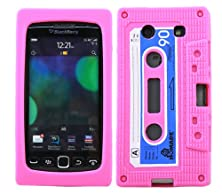 buy Italkonline Softskin Cassette Tape Retro Pink Blue White Super Hydro Silicone Protective Armour/Case/Skin/Cover/Shell For Blackberry 9860 Torch