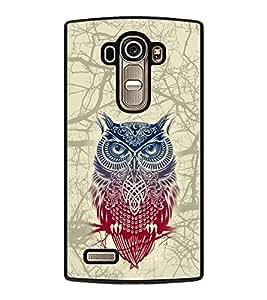 PRINTVISA Big Owl Premium Metallic Insert Back Case Cover for LG G4 - D6122