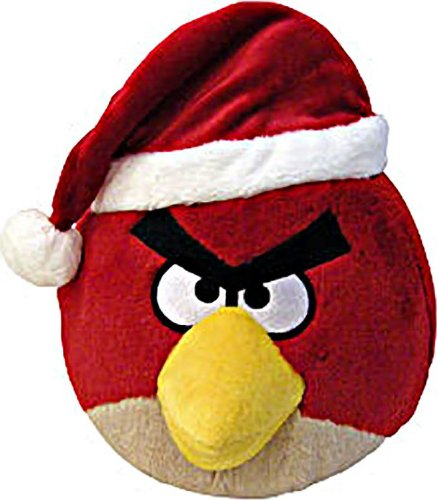 "Red Bird: ~5"" Angry Birds Christmas Mini-Plush Series (No Sound)"