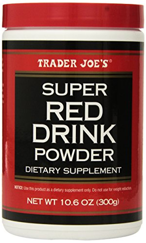 Trader Joe's Super Red Drink Powder Antioxidant Dietary Supplement, 10.6oz (300g) (Super Greens 8000 compare prices)