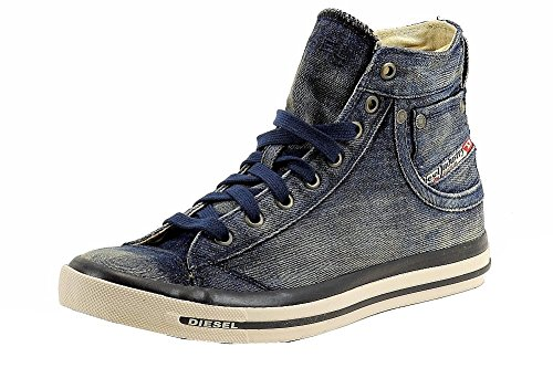 Diesel Men's Exposure I Fashion High Top Sneaker Shoes (12, Indigo)