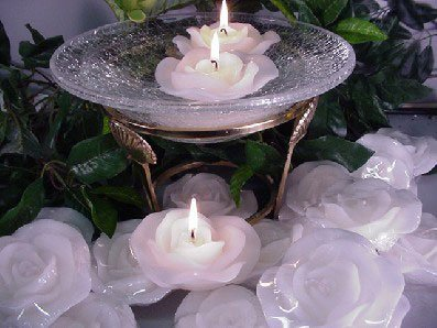 Scented Floating ROSE Candles Wedding Decoration