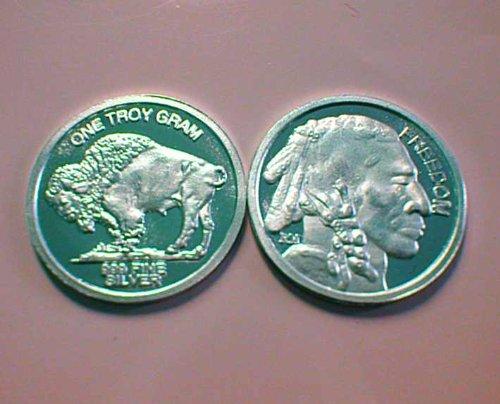 1 Gram .999 Fine Silver Buffalo Round