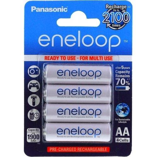 Lot de 4 piles Panasonic eneloop BK-3MCCE/4BE 1900mAh NiMH