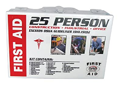 Tactical First Aid Kit: SAS Safety 6025-01 25-Person First-Aid Kit, Metal Box by Sas Safety Corp