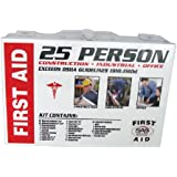 SAS Safety 6025-01 25-Person First-Aid Kit, Metal Box