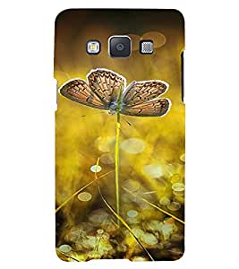 PrintVisa Butterfly Design 3D Hard Polycarbonate Designer Back Case Cover for Samsung Galaxy E5