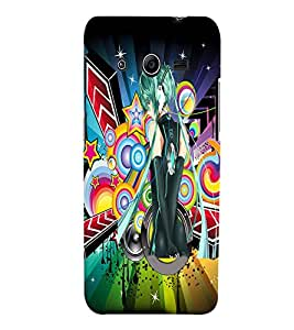 Fuson Music Girl Back Case Cover for SAMSUNG GALAXY CORE 2 - D3805